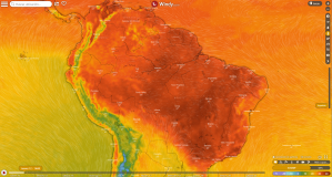 Mapa de temperatura en Windy