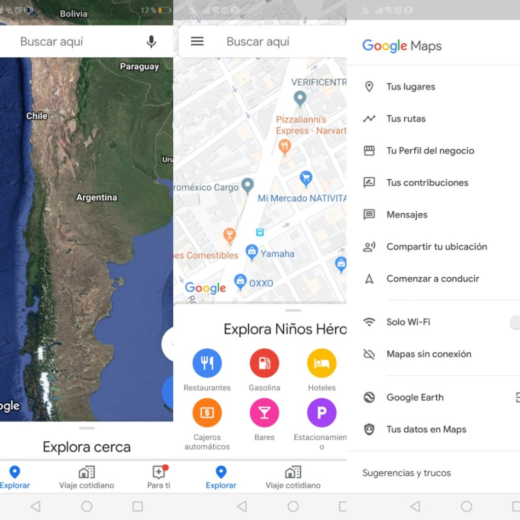 Google maps te permite encontrar lugares de interés en todo el mundo