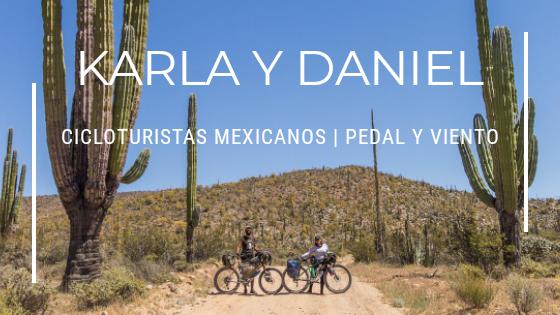 Cicloturistas mexicanos